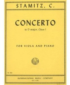 Stamitz - Concerto In D Major Op. 1. For Viola and Piano. Edited by Meyer. by International